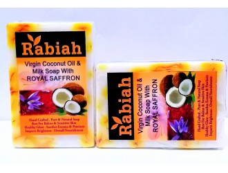 Coconut milk soap with Royal saffron